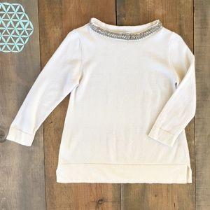 Autumn Cashmere sweater bejeweled collar Medium